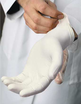 Safety Zone Latex Disposable Gloves, Powdered, Rolled Cuff, 5 Mil, Textured, Large, Case of 1,000 picture