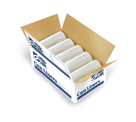 TuffSkins High Density Coreless Roll Liners, 33 x 40 in., 16 MIC, Clear picture