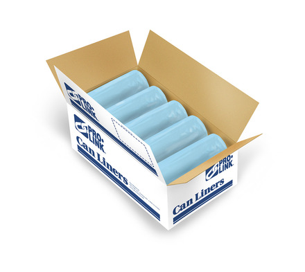 Hospital TuffSkins High Density Medical Can Liners, 33 x 40 in., 14 MIC, Blue picture