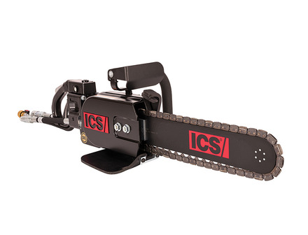 ICS 890PG-15 Saw Package 8 gpm with 15 inch guidebar, PowerGrit® Chain, 1 ft hose whips, case picture