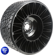 MICHELIN® X® TWEEL® TURF<br>Airless Radial Tire<br>for Zero Turn Radius Mowers 26x12N12