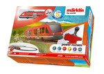 """Marklin My World """"LINT Commuter Train"""" Battery Starter Set with Plastic Track & Rechargeable Battery"""