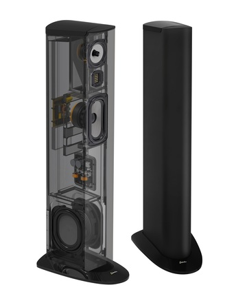 Triton Three+ Floorstanding Tower Loudspeaker with Built-In 800 Watt Powered Subwoofer (ea) picture