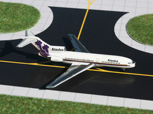 """GeminiJets 1:400 Alaska Airlines 727-100 """"Russian Domes"""" picture"""