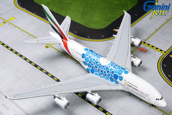 "GeminiJets 1:400 Emirates Airbus A380-800 ""Blue Expo 2020"" picture"