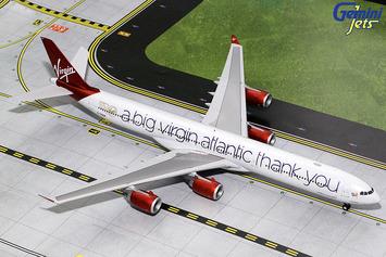 "Gemini200 Virgin Atlantic Airbus A340-600 ""Thank you"" picture"