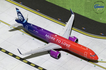 """GeminiJets 1:400 Alaska Airlines Airbus A321neo """"More to Love"""" picture"""
