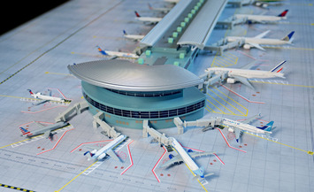 GeminiJets 1:400 Scale Deluxe 22 Gate Airport Terminal picture