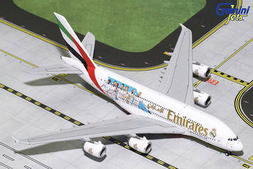 """GeminiJets 1:400 Emirates A380-800 """"Real Madrid"""" picture"""