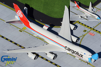 """GeminiJets 1:400 Cargolux Boeing 747-8F """"Not Without My Mask"""" picture"""