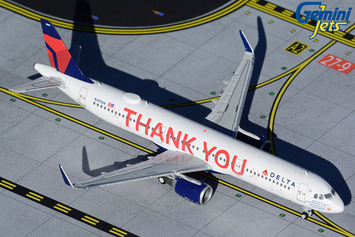 """GeminiJets 1:400 Delta Air Lines Airbus A321 """"Thank You"""" picture"""