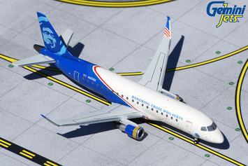 "GeminiJets 1:400 Alaska Airlines E175 ""Honoring Those Who Serve"" picture"