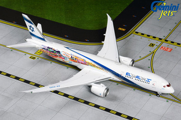 "GeminiJets 1:400 El Al Boeing 787-9 Dreamliner ""Las Vegas/San Francisco"" picture"