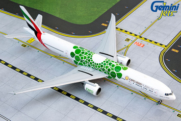 "GeminiJets 1:400 Emirates Boeing 777-300ER ""Green Expo 2020"" picture"