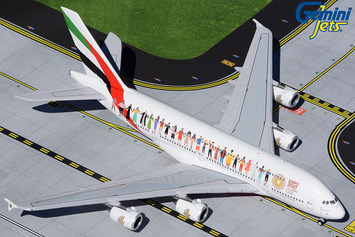 """GeminiJets 1:400 Emirates Airbus A380 """"Year of Tolerance"""" picture"""