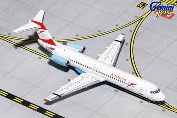 """GeminiJets 1:400 Austrian Airlines Fokker 100 """"Goodbye Fokker"""" picture"""