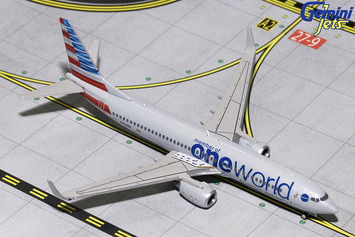 "GeminiJets 1:400 American Airlines Boeing 737-800 ""oneworld"" picture"