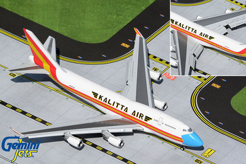"""GeminiJets 1:400 Kalitta Air Boeing 747-400BCF """"Mask"""" (Flaps/Slats Extended) picture"""