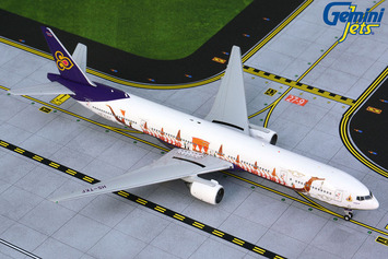 "GeminiJets 1:400 Thai Airways Boeing 777-300 ""Royal Barge"" picture"