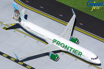 """Gemini200 Frontier Airbus A321 """"Virginia the Wolf"""" picture"""
