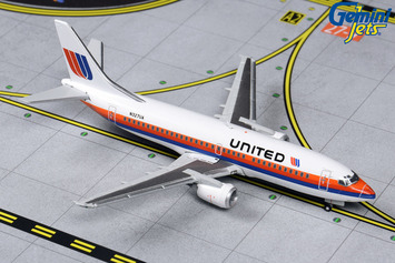 """GeminiJets 1:400 United Airlines Boeing 737-300 """"Saul Bass"""" picture"""