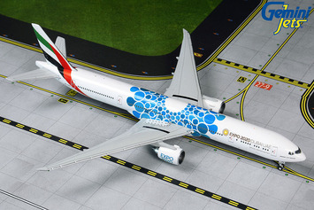 "GeminiJets 1:400 Emirates Boeing 777-300ER ""Blue Expo 2020"" picture"