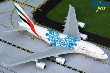 """Gemini200 Emirates Airbus A380 """"Blue Expo 2020"""" picture"""