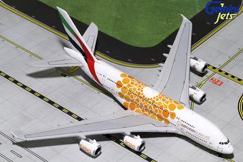 "GeminiJets 1:400 Emirates A380-800 ""Orange Expo 2020"" picture"