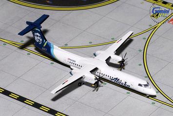 GeminiJets 1:400 Alaska Airlines Bombardier Dash 8Q-400 picture
