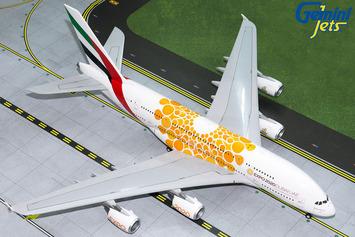 """Gemini200 Emirates Airbus A380-800 """"Orange Expo 2020"""" picture"""