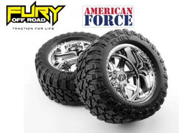 American Force Legend SS8 Wheels  Fury Mountain M/T Tires (Pre-glued) picture