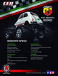 8912 Fiat ABARTH 595 1/12 Soild Axle Monster Truck additional picture 2