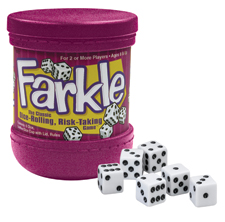 Farkle Cup with dice
