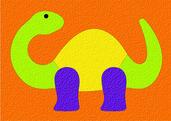 Lauri® Crepe Rubber Puzzle Dinosaur