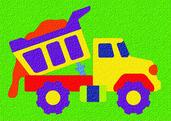 Lauri® Crepe Rubber Puzzle Dump Truck