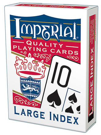 Imperial® Large Index Playing Cards  Red Deck picture
