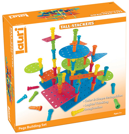 Tall-Stacker™ Pegs Building Set picture