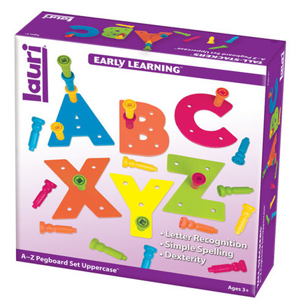Tall-Stacker™ Pegs A to Z Pegboard™ Set Uppercase picture
