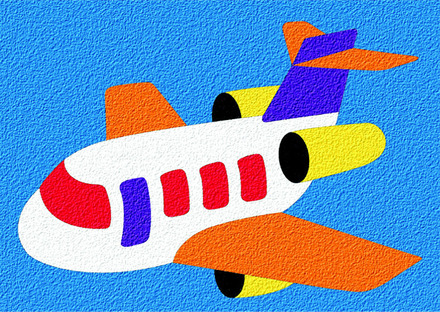 Lauri® Crepe Rubber Puzzle Airplane picture