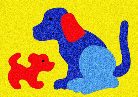 Lauri® Crepe Rubber Puzzle Dog & Puppy picture