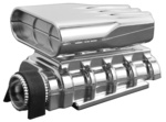 Mock Intake and Blower Set - Chrome