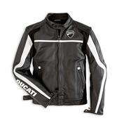 Ducati Twin Leather Jacket - Black - Size 58 (CLOSEOUT)