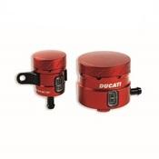 Ducati Monster 1200 Aluminum Brake / Clutch Fluid Reservoirs - Red