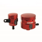 Ducati Panigale Billet Aluminum Brake and Clutch Reservoirs - Red