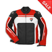 Ducati Corse '14 Leather Jacket-Red Perforated - Size 56 (CLOSEOUT)
