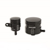 Ducati Monster 1200 Aluminum Brake / Clutch Fluid Reservoirs - Black