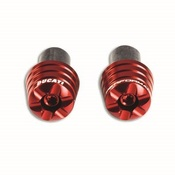 Ducati Billet Aluminum Bar End - Red