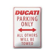 Ducati Parking Metal Sign