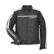 Ducati 80's Leather Jacket-Black Perforated - Size 54