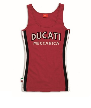 Ducati Meccanica Singlet - Red - Size X-Large picture